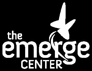 emerge center logo white