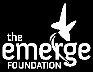 emerge foundation logo white